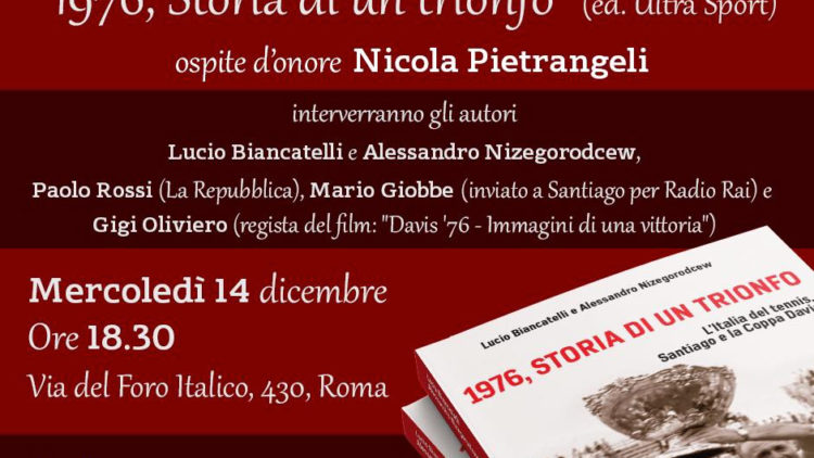 14/12 Roma – Presentazione di 1976 di Lucio Biancatelli e Alessandro Nizegorodcew