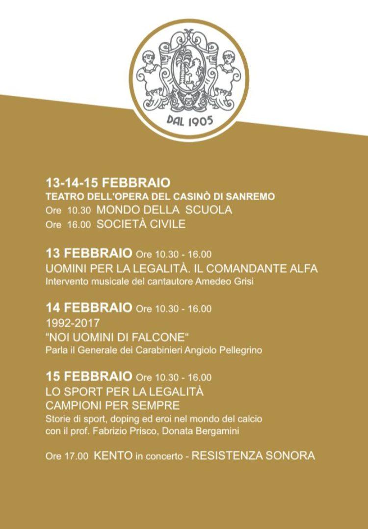 """15/02 – A Sanremo """"Campioni per sempre"""" Fabrizio Prisco con Donata Bergamini"""