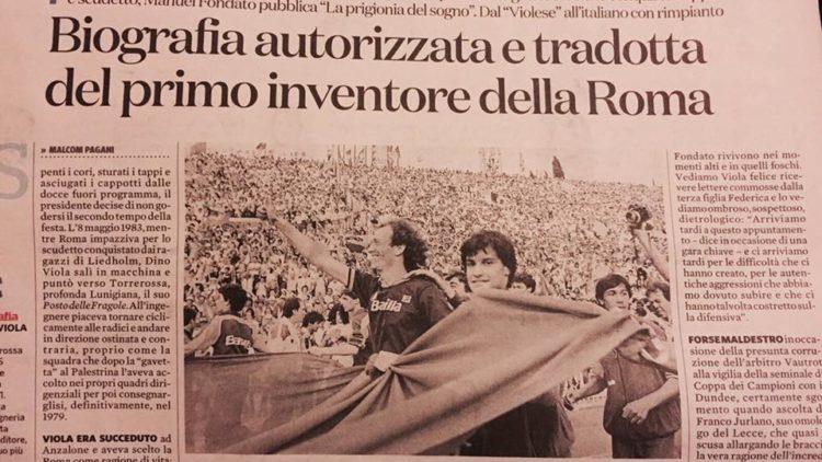 Il Fatto quotidiano racconta la biografia di Dino Viola di Manuel Fondato