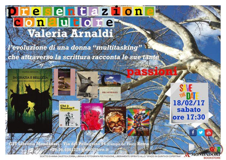 18/02 Roma – Incontro con Valeria Arnaldi