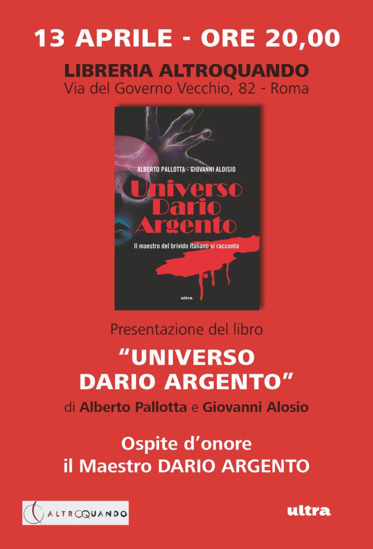 """13/04 ROMA Presentazione """"Universo Dario Argento"""", ospite il Maestro Dario Argento"""