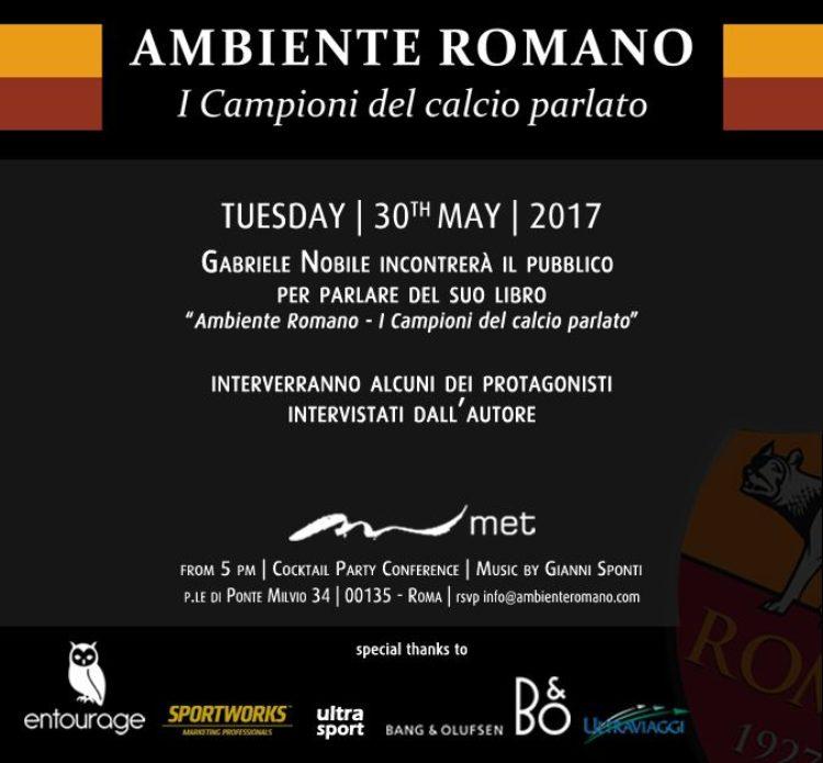 """30/05 – """"Ambiente romano"""" di Gabriele Nobile, presentazione a Roma"""