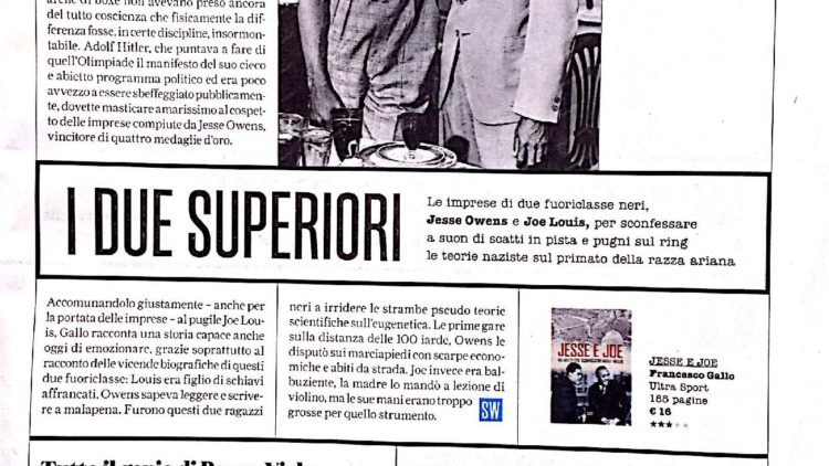 """Jesse e Joe"", Luca Bergamin su Sportweek"