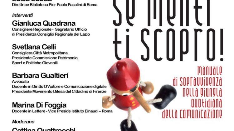 """19/06 – Presentazione del libro """"Se menti ti scopro!"""" – Roma"""