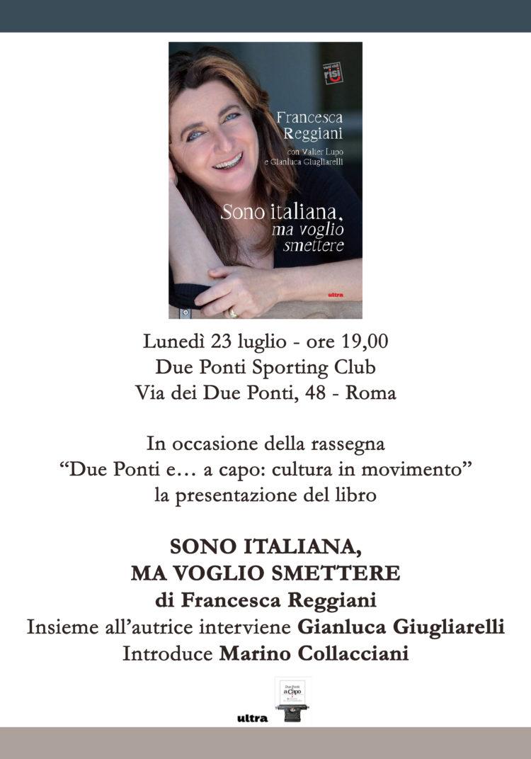 """23/07 – Presentazione del libro """"Sono italiana, ma voglio smettere"""" – Roma"""