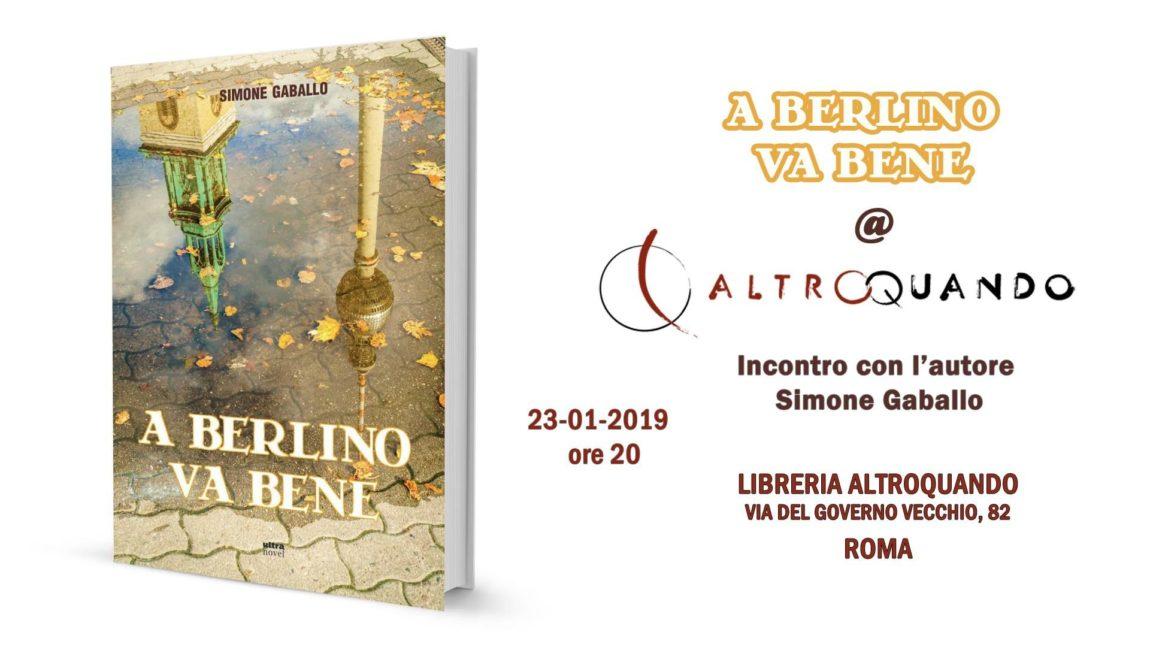 """23/01 – Presentazione del libro """"A Berlino va bene"""" – Roma"""