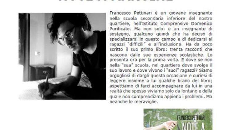 15 febbraio Roma – Incontro con Francesco Pettinari alla Biblioteca della Scuola Purificato